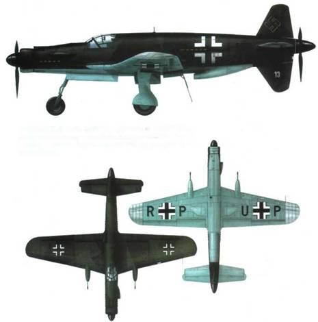 Do 335M13(B-2) (W.Nr. 230013), камуфляж RLM 81/82/65. Оконцовки крыльев не окрашены, прошпаклеваны RLM 02. На нижней стороне крыльев кресты шириной 1525 мм, на бортах фюзеляжа 1250 мм.