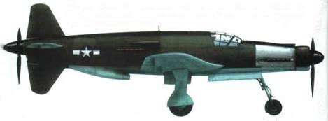 Do 335А-1 (W.Nr. 240161, 1/3), захваченный американцами. Немецкие опознавательные знаки закрашены, камуфляж остался немецким. Часть капота двигателя из неокрашенных дюралевых листов.