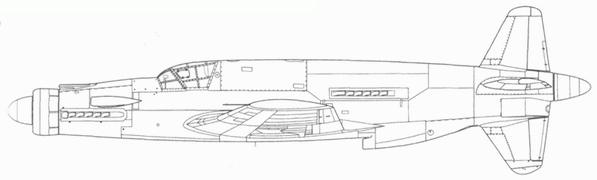 Do 335V5, первый «Pfeil», получивший вооружение.