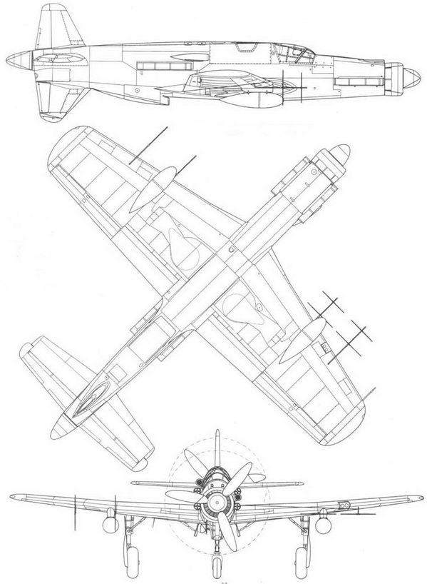 Do 335A-6 – вид справа, снизу и спереди. Проект, реконструкция.