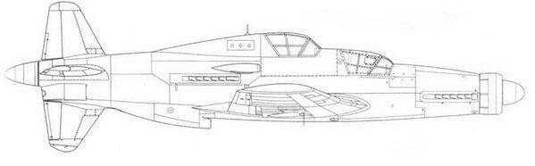 Do 335А-12 – основной вариант учебного самолета на базе А-1.
