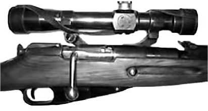 Карабин КО 91/30 с установленным оптическим прицелом ПУ.