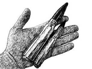 Снаряд калибра 20 мм и патрон.50 BMG.