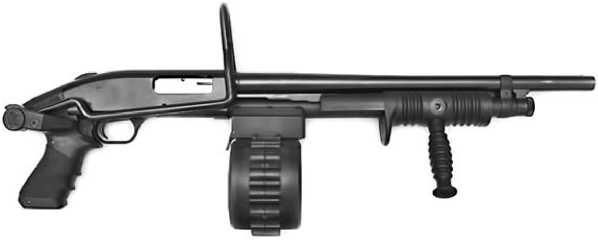 Mossberg 500 Sidewinder.