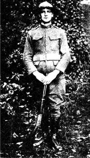 Американский морской пехотинец с винтовкой Marlin 1894. Первая мировая война.