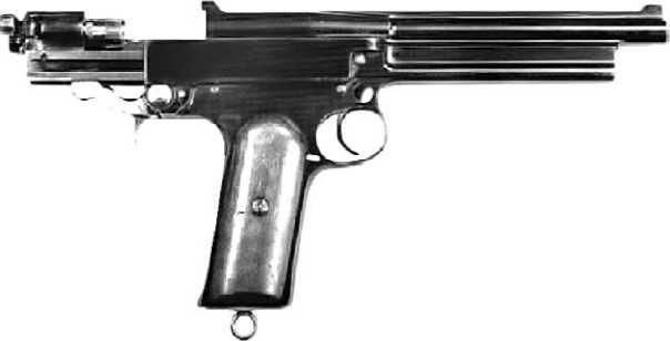 Пистолет Webley Mars с оригинальной системой боепитания.