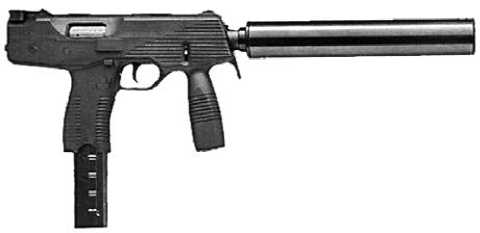 Пистолет-пулемет Steyr TMP с прибором бесшумной стрельбы.