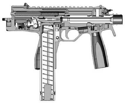 Схема пистолета-пулемета Steyr TMP.