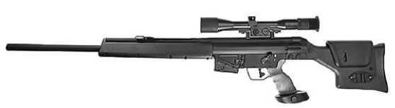 Полицейская снайперская винтовка HK PSG-1.