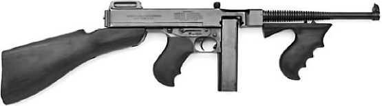 Первая модель <a href='https://arsenal-info.ru/b/book/643295886/4' target='_self'>пистолета-пулемета</a> Thompson M1921.
