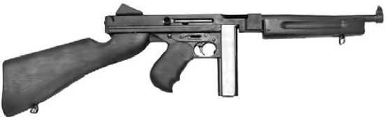 Модернизированный <a href='https://arsenal-info.ru/b/book/643295886/4' target='_self'>пистолет-пулемет</a> Thompson M1921M1.