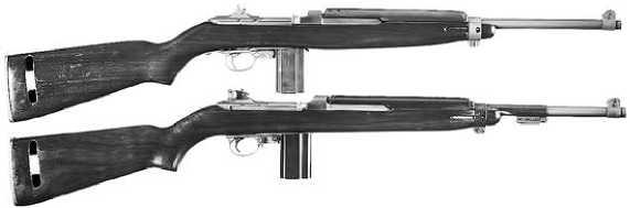 М1 Carbine раннего и позднего выпусков.