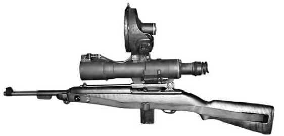 М3 Carbine с установленным инфракрасным прицелом.