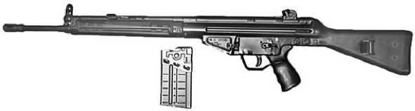 Штурмовая винтовка G3.
