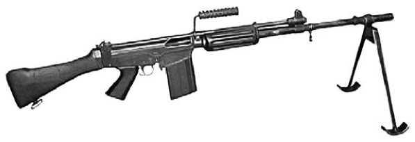 FN FALO — <a href='https://arsenal-info.ru/b/book/3005399322/28' target='_self'>легкий пулемет</a>, разработанный на базе штурмовой винтовки FN FAL.