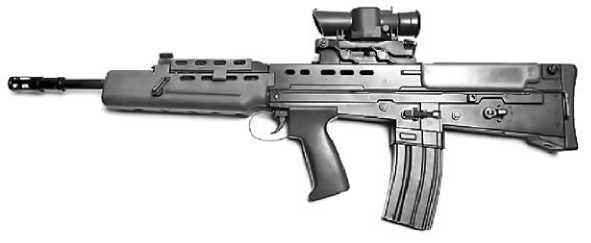 Британская штурмовая винтовка L85.