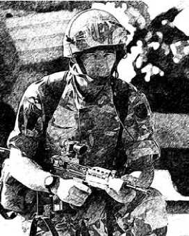 Британский военнослужащий, вооруженный штурмовой винтовкой L85.