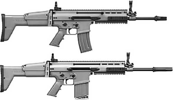 Штурмовые винтовки FN SCAR L и FN SCAR H.