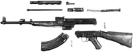 Разборка АК-46 — прототипа всемирно известного автомата Калашникова.