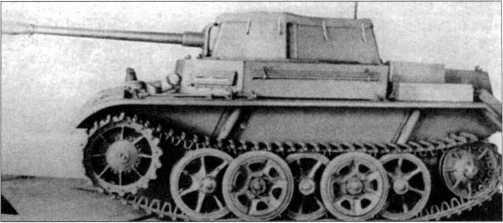 Фото модели VK 903Ь — прототипа танка Pz.Kpfw.II Ausf.M с 50-мм артсистемой. Открытая сверху рубка закрыта брезентом. 1942 год. Производителем подобных машин должны были стать фирмы MAN и «Даймлер-Бенц».