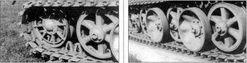 Деталировка танка Pz.Kpfw.I Ausf.F из экспозиции военного музея в городе Белграде. Виден надмоторный отсек и ходовая часть, спроектированная в соответствии с концепцией, выдвинутой инженером Кникампом. 2002 год.