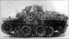 Снимки трофейного танка Pz.Kpfw.I Ausf.F, захваченного советскими войсками, во время испытаний на НИИБТполигоне в Кубинке. Машина камуфлирована и предположительно принадлежала 3-й танковой дивизии вермахта. 1945 год.