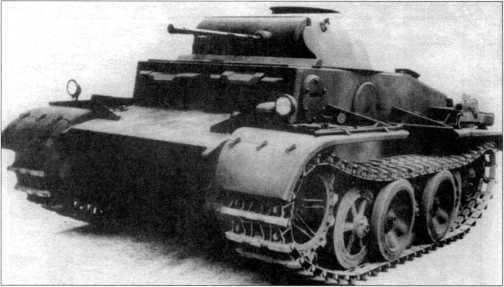 Проекция и фото прототипа танка поддержки пехоты Pz.Kpfw.II Ausf.J (VK 1601).