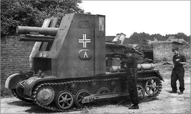 Самоходное пехотное орудие «Alter Fritz» («Старый Фриц»). 706-я рота тяжелых пехотных орудий, Франция, май 1940 года.