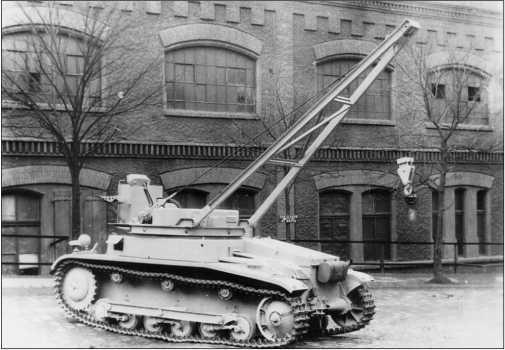 БРЭМ на базе танка Pz.II одной из ранних модификаций.