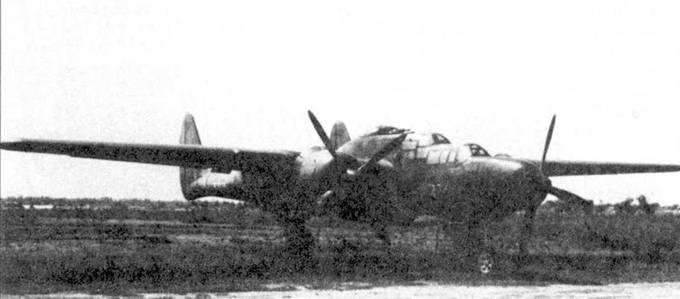 Истребитель P-61B из 427 BFS, Бирма, 1945г. Черная краска здорово облезла.