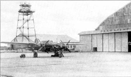 «Му Joan» — истребитель FP-61 из 339-й истребительной всепогодной эскадрильи, авиабаза Мисава, Япония, 1949г. К 1949г. на Дальнем Востоке осталось лишь несколько пригодных к полетам F-61, но и их вскоре заменили «Твин Мустангами».