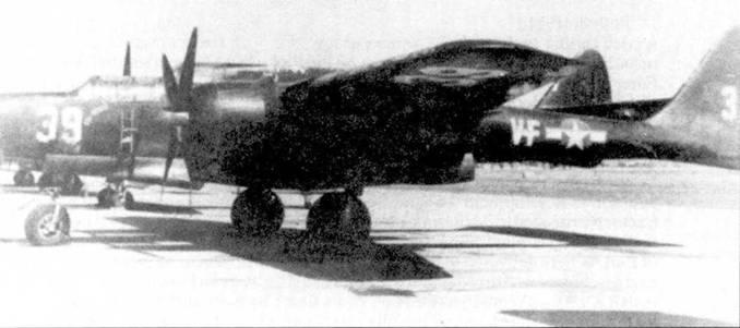 Авиация корпуса морской пехоты США получила в сентябре 1948г. 12 самолетов P-61B, в корпусе морской пехоты машины обозначались F2T-1. Они использовались для подготовки экипажей ночных истребителей Грумман F7F «Тайгеркэт». Самолеты F2T-1 были сняты с вооружения в августе 1947г.