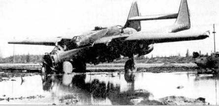 Летчик этого P-61С серийный номер 43-8339 из 449-й истребительной всепогодной эскадрильи очень хорошо поцеловал землю при посадке на аэродроме Лэдд-Филд, Аляска. С самолета сняли вес ценное, а затем оттащили па самолетную свалку в дальнем углу авиабазы. Позже машину полностью утилизировали.