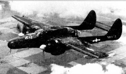 Самолеты F-61C, которые базировались в Калифорнии ни аэродроме Хаммер-Филд, использовались для подготовки экипажей «Твин Мустангов». С этих «Вдов» сняли противообледенительные системы (включая резиновое покрытие носков крыла и стабилизатора) и фюзеляжные пулеметные турели (отверстие под турель зашито металлическим листом).