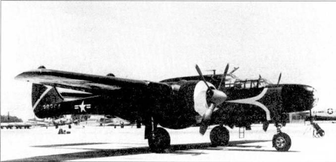 На снимке — один из P-61C, задействованных в полетах по программе «Тандерсторм» по исследованию торнадо.