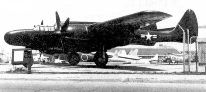 Один из двух уцелевших самолетов P-61C выставлен в экспозиции музея ВВС ни авиабазе Райт-Паттерсон, шт. Огайо. Самолет полностью перекрашен под истребитель с собственным именем «Moonlight Serenade» из 550 NFS. Истребители P-61C в боевых действиях участия не принимали.