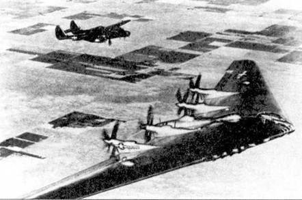 Второй серийный P-61С-1 (серийный номер 43-8322) использовался в качестве самолета сопровождения при летных испытаниях стратегического бомбардировщика Нортроп ХВ-35. После переоснащения реактивными двигателями обозначение бомбардировщики было изменено на ХВ-49.