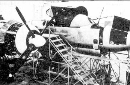 Самолет XP-61Е строился как дальний истребитель эскорта, способный сопровождать бомбардировщики Стратегического авиационного командования ВВС США в рейдах в глубинные районы Советского Союза. Центральная часть фюзеляжа самолета была полностью перепроектирована. Так как истребитель предназначался для использования в дневное время, то вместо РЛС на нем поставили пулеметы. Экипаж из двух человек располагался тандемом в кабине, закрытой каплеобразным фонарем.