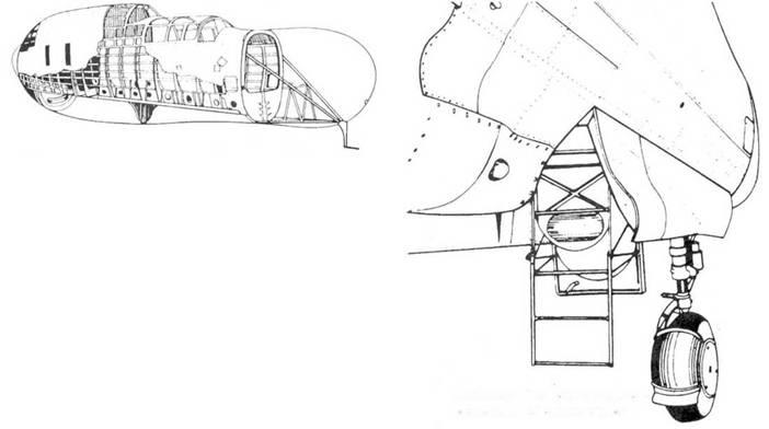 Лестница доступа в кабину летчика и воздушного стрелка.
