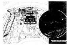 Прибор ночного видения закреплен в кабине летчика на подвижной раме.