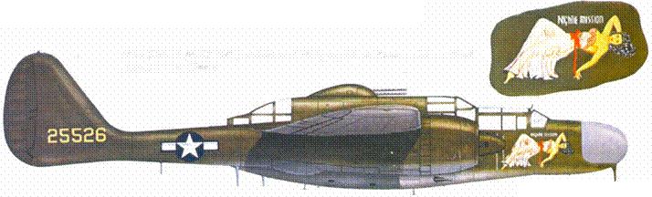 «NAIGHTIE MISSION», P-61А из 6 NFS, аэродром Кэгман Пойнт Филд, Сайпан, июль 1944г.
