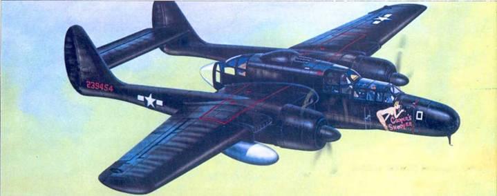 P-61B из 548 NFS, Иводзима, 1945г.