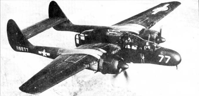 Большинство из тринадцати предсерийных YP-61 поступило в 481 NFOTG, группа отвечала как за испытания У P-61, так и за переподготовку экипажей для боевых P-61.