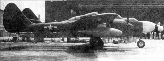 Третий серийный P-61А-1-NO(серийный номер 42-5487) использовался для испытаний подвесных сбрасываемых топливных баков. Плексиглазовый обтекатель РЛС заменен обтекателем, изготовленным из стеклоткани.