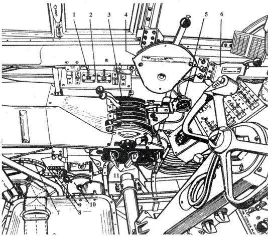 P-61A левый борт кабины летчика