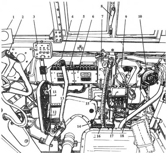 P-61А Правый борт кабины летчика