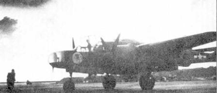 P-61A-1 серийный номер 42-5523 из 6 NFS с собственным именем «Midnight Mickey», аэродром Кагман Пойнт Филд (аэродром известен также как Ист Филд), Сайпан. Обычно полет на ночное патрулировании с Сайпана продолжался два часа, экипажи летали от заката до рассвета. Постоянно в воздухе находился один ночной истребитель.