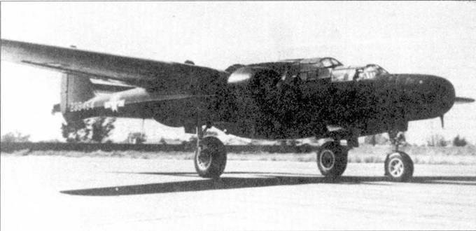 Истребители P-61B имели более длинные по сравнению с P-61A носовые части фюзеляжей из-за необходимости установки более габаритной РЛС SCR-72°C. Самолет P-61В серийный номер 42-39454 с собственным именем «Cooper's Snooper» принадлежал 54Н NFS.