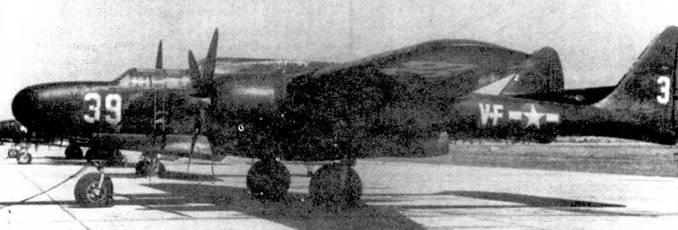 Тренировочный самолет F2T-I (бортовой номер «39», собственное имя «CAL-DONIA»), машина использовалась в авиации ВМС США для подготовки экипажей ночных истребителей.