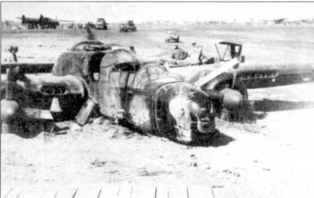 Лейтенант Мел Боуд «разложил» свой P-61В «The SPOOK» при посадке на Иводзиме в сильном тумане. Лейтенант зацепил землю левой плоскостью крыла, а затем въехал в другую «Вдову». Самолет попа хал брюхом 50 метров песка прежде чем остановился.